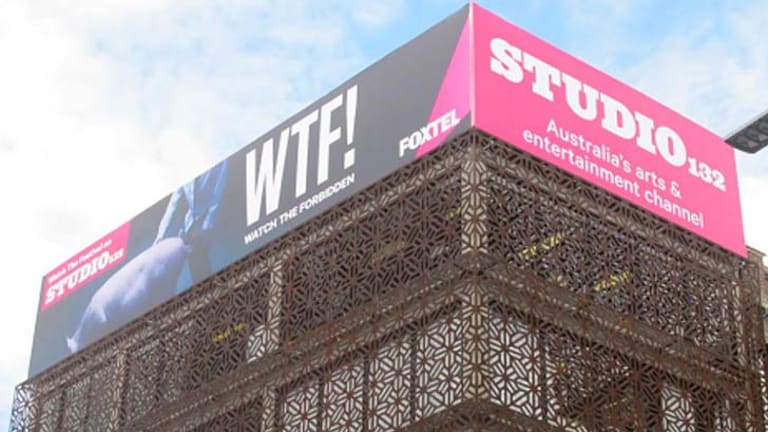 Controversial: the billboard in Kings Cross.