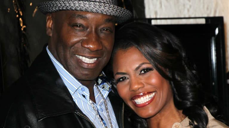Confirmed the news ... Michael Clarke Duncan with his fiancee Omarosa Manigault at a Hollywood premiere on February 13.