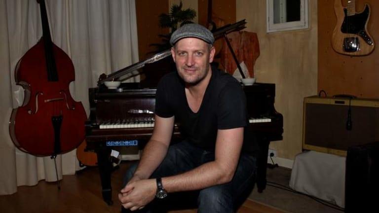 Writer-producer Louis Schoorl, in his Darlinghurst recording studio.