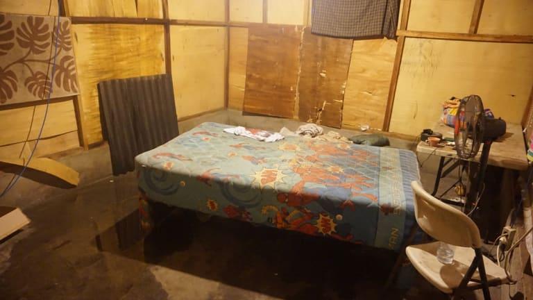 The squalid living conditions on Gili Trawangan.
