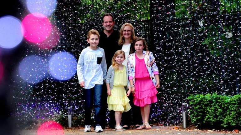 David and Janean Richards with their three children Aidan, 13,  Madelyn,6  and Caitlin,10.