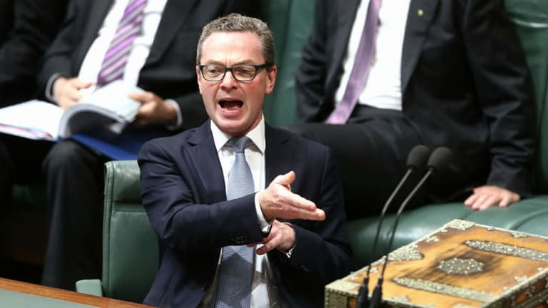 Taking the heat: Education minister Christopher Pyne is facing a strong voter backlash over university cuts.