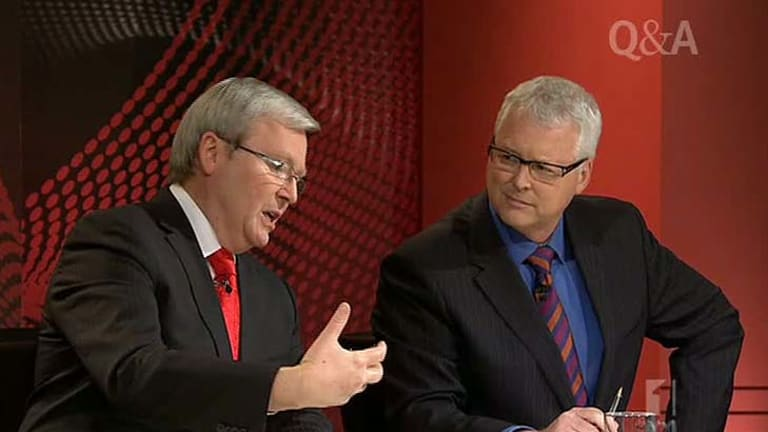 I was wrong: Mr Rudd's admission came out of the blue on Q&A last night.