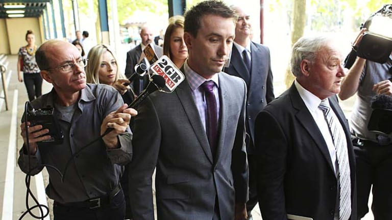 """""""Extremely disappointed"""" ... James Ashby leaves court."""
