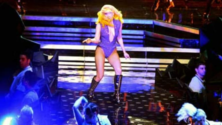 Just dance ... Lady Gaga performing in Sydney on her <i>Monster Ball</i> tour.