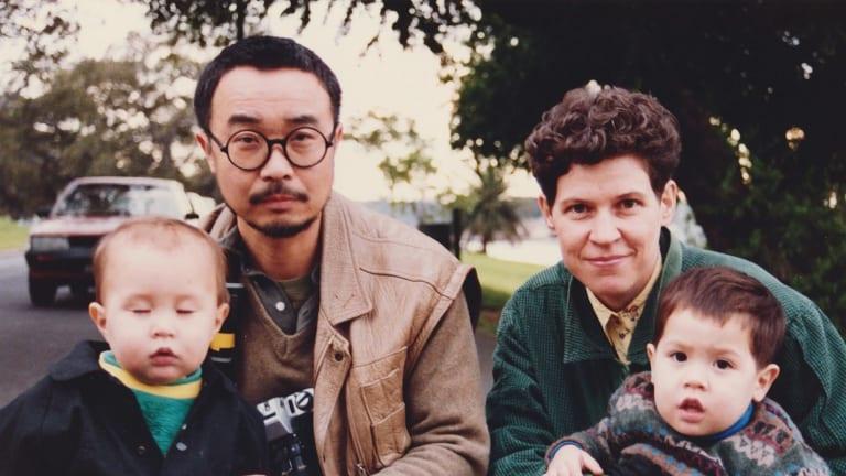 Cory Taylor with Nat and husband Shin Koyama with Dan