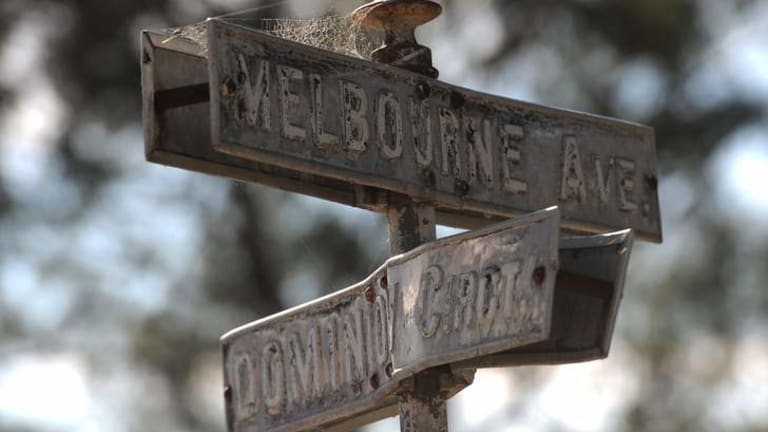 One of the many old street signs in the Forrest.