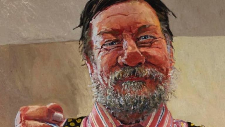 Lucy Culliton's portrait of Ray Hughes.