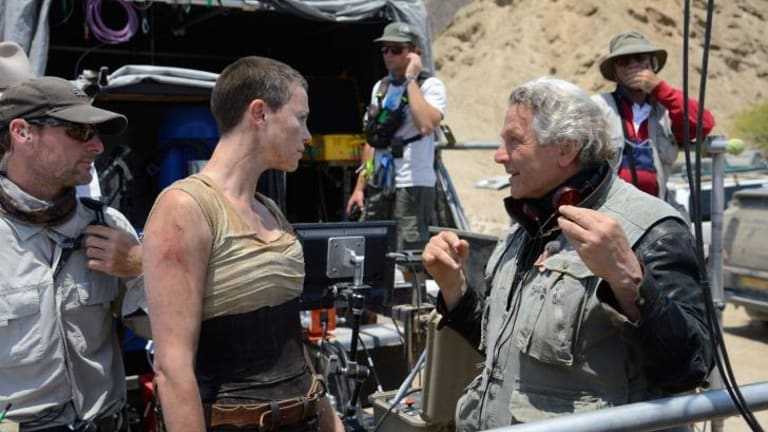 Charlize Theron with director George Miller.