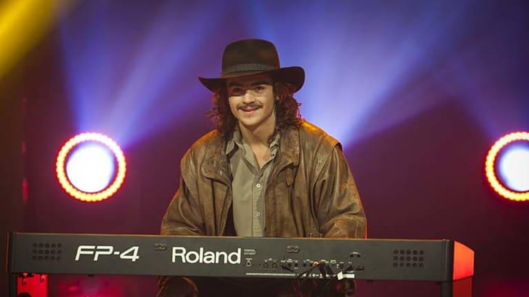 Chooka Parker at the keyboard performing in Australia's Got Talent.