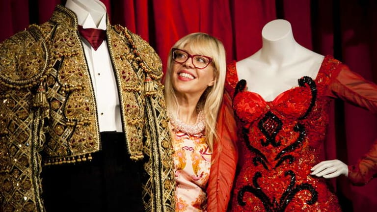 ''People come out with smiles on their faces'': Catherine Martin at the Powerhouse Museum for the opening of the Strictly Ballroom exhibition featuring her costume designs from the film.