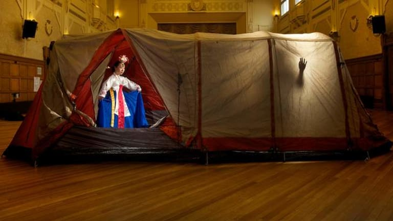 Northcote Town Hall becomes a space for colouful tents and dance worth coming back for.