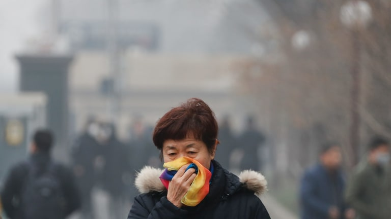 Pollution remains a big problem in Chinese cities.