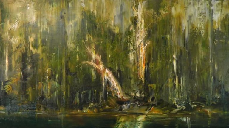 Unsettling representation ... Geoff Dyer's canvas <i>D'Entrecasteaux Near Cockle Creek.</i>