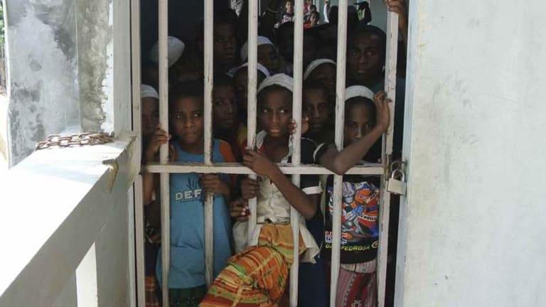Captive audience … Papuan boys at the Daarur Rasul Islamic boarding school, outside Jakarta, behind locked gates.