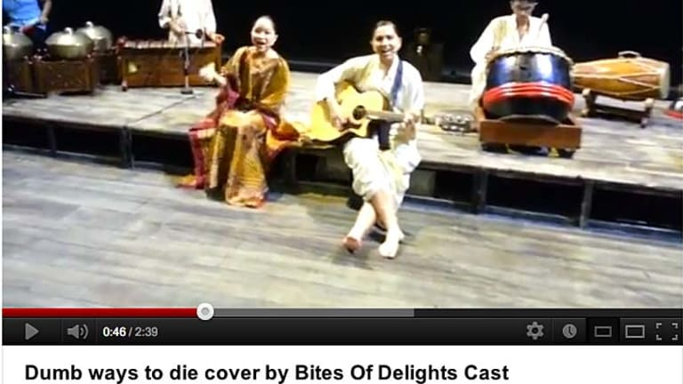 It even inspired a cover by a traditional Malaysian musical group.