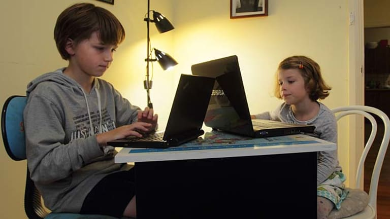 Archie, 10, and sister Thea, 6, have been using computers since they were three years old.