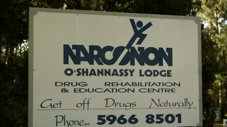 The sign at the entrance to Narconon in Warburton East.