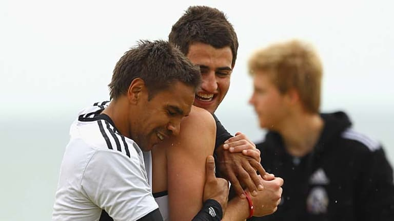 Andrew Krakouer and Alex Fasolo... the latter has been surprisngly named in the 22 for the grand final.
