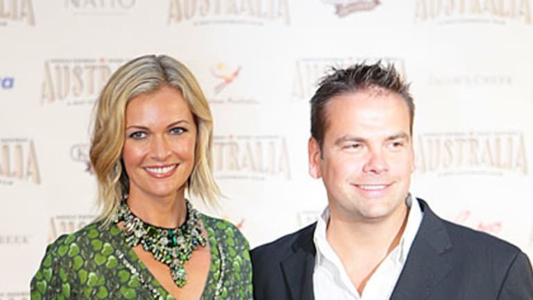 New parents ... Sarah and Lachlan Murdoch in 2008 at the premiere of the movie <i>Australia</i>.
