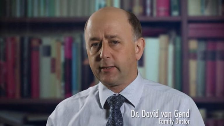 "David van Gend, the president of the Australian Marriage Forum, is described on-screen as a ""family doctor""."