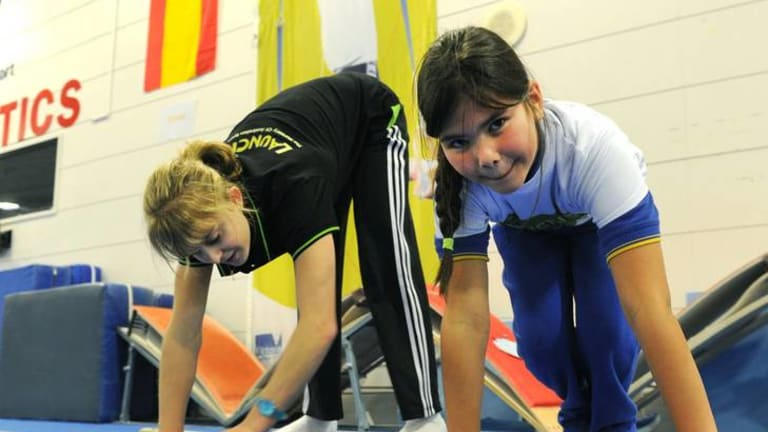 """Gymnastics Australia launched a national grassroots program """"Launch Pad"""" at the AIS gymnastics training hall. Olympic gymnast, Lauren Mitchell was on hand to launch the program."""