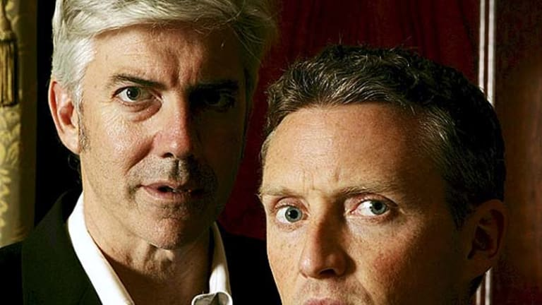 Shaun Micallef and Stephen Curry.