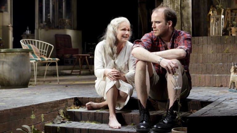 """Unprecedented success"" ... Julie Walters as Judy Haussman and Rory Kinnear as Nick Haussman in <i>The Last of the Haussmans</i>, part of the National Theatre Live program that will show in cinemas."