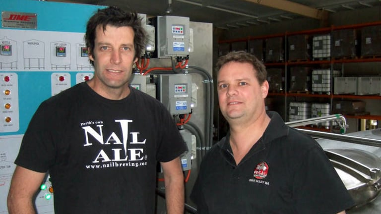 Mutually beneficial ... John Stallwood of Nail and Brendan Varis of Feral now share a brewing facility.