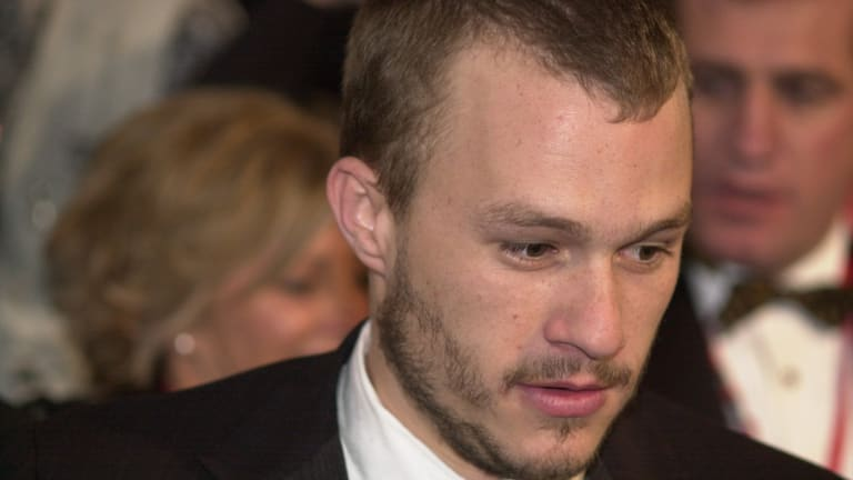 Heath Ledger at the Melbourne world premiere of Ned Kelly.