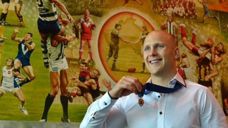 Gary Ablett after winning the 2013 Brownlow Medal.