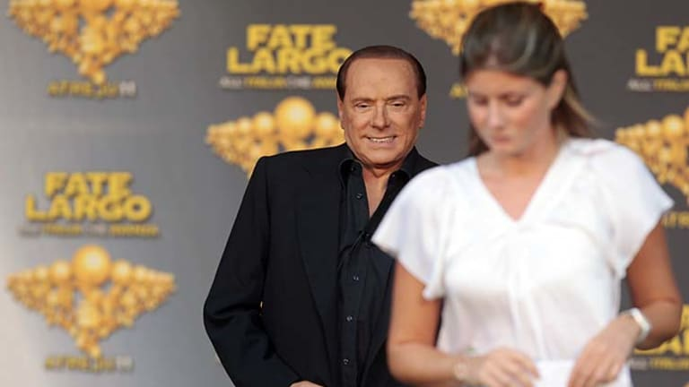 'Nothing to reprimand myself for': Silvio Berlusconi at a People of Freedom party meeting in Rome on Friday.