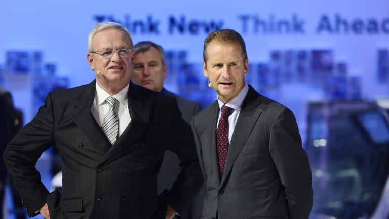 The revelations have heaped pressure on Volkswagen chief Martin Winterkorn (left).