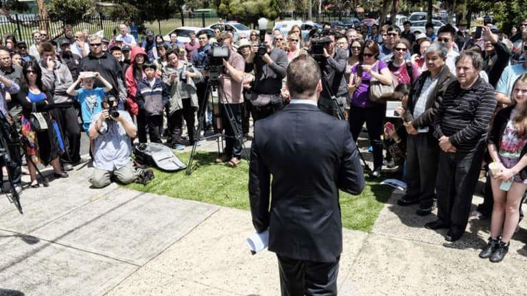 Auction of Gillard's home draws large crowd in Altona.
