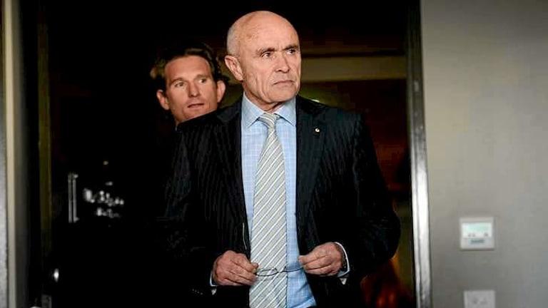 Essendon Football Club chairman Paul Little and coach James Hird.
