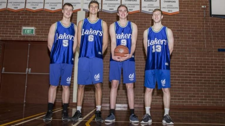 UC Senior Secondary College students who played on the same basketball team as Dante Exum. From left: Robert Colton, Jack McVeigh, Billy Muir, Mitch Brown.