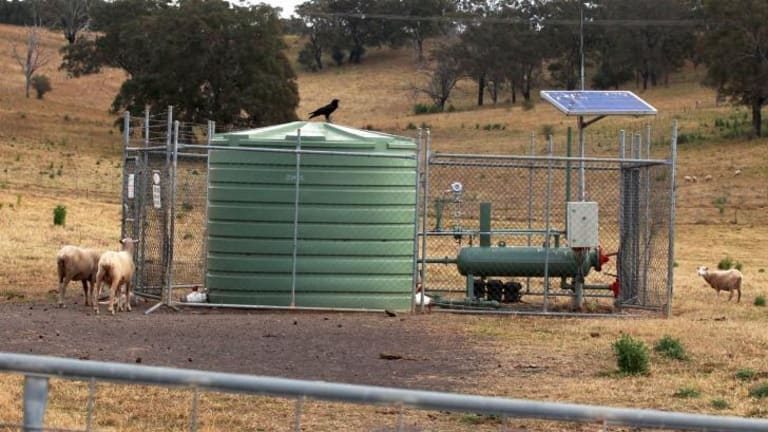 A coal seam gas well at the Nepean River, Camden, operated by AGL.