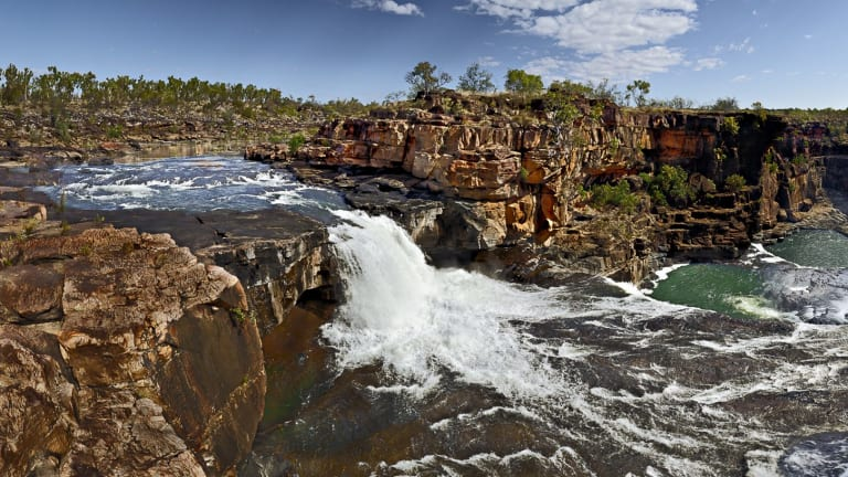 The spectacular Mitchell Falls are located on the remote Plateau, which will be protected under a new agreement.