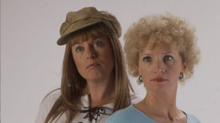 Look at me ... Kath and Kim were scheduled to appear at the World's Funniest Island.