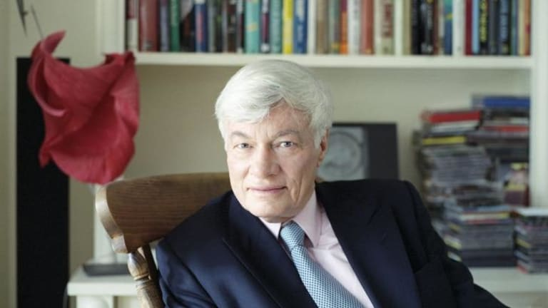 Geoffrey Robertson at home in London.