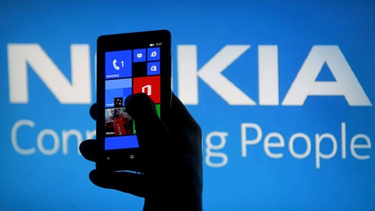 Nokia's Lumia smartphone, which runs Windows Phone 8.