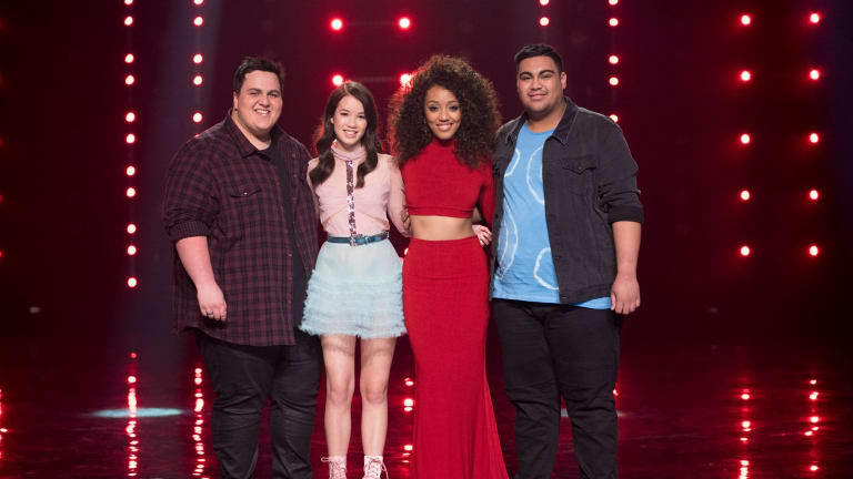 The Voice Australia 2017 finalists: Judah Kelly, Lucy Sugerman, Fasika Ayallew and Hoseah Partsch.