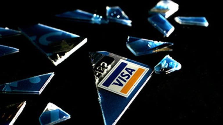 """Visa ... under attack along with PayPal and MasterCard from a """"low orbit ion cannon'."""