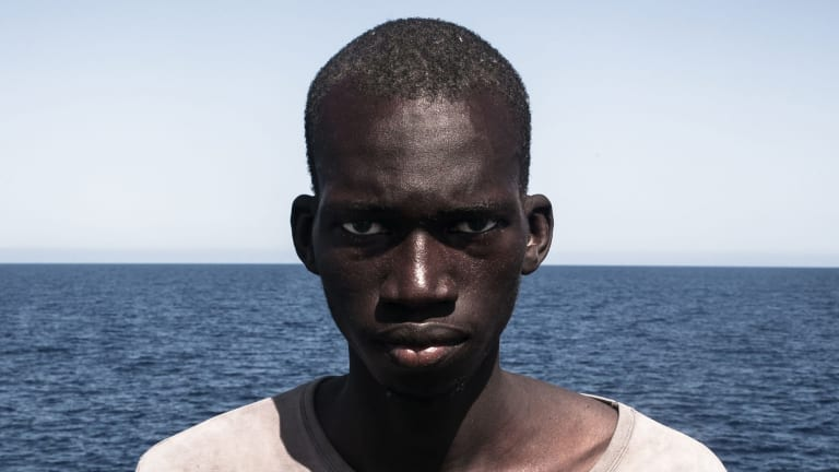 A photograph of Amadou Sumaila won first prize for portraiture in the Head On Photo Festival.