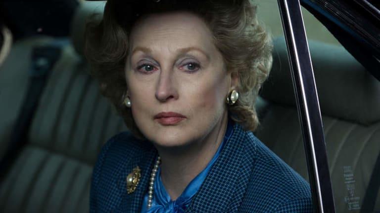 Meryl Streep as Margaret Thatcher in <i>The Iron Lady.</i>