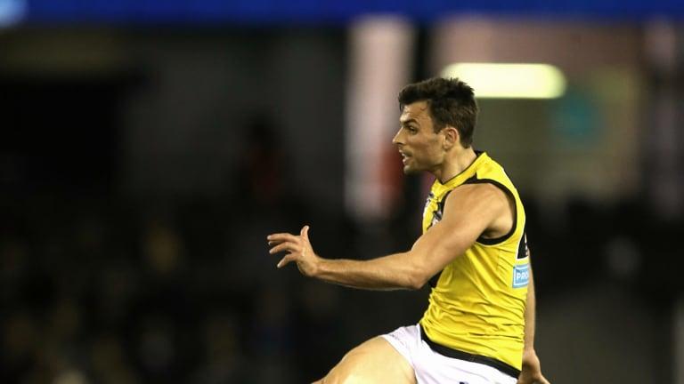 Richmond's Sam Lloyd kicks a goal   in the VFL grand final.Picture: