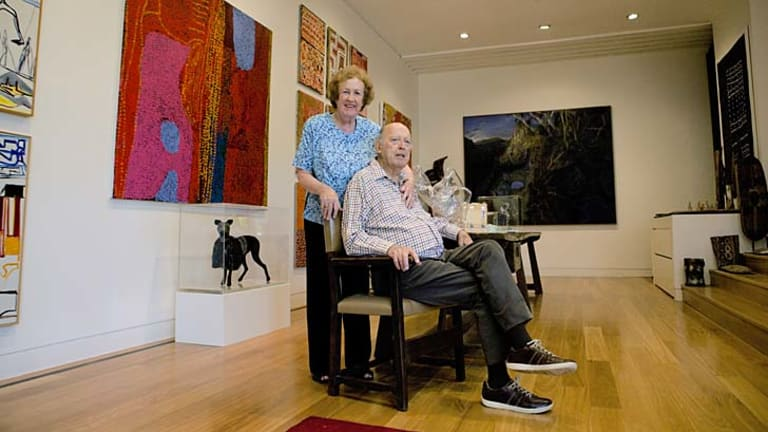 Passion for art ... Colin Laverty and his wife, Elizabeth.