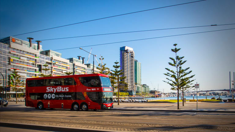 """""""Just because you build an airport rail, it doesn't mean people want to use it,"""" said Skybus director, Michael Sewards."""