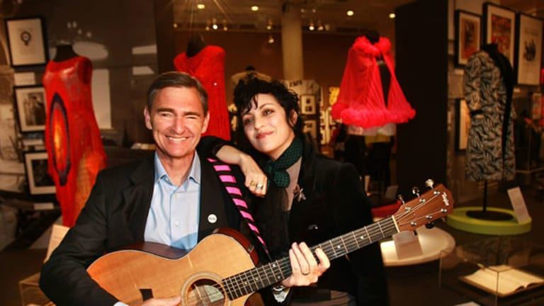 Wild horses: Premier John Brumby, with musician Monique Brumby (no relation), will no doubt get a lifetime backstage pass after $25 million in promises for musicians, venues and the industry.