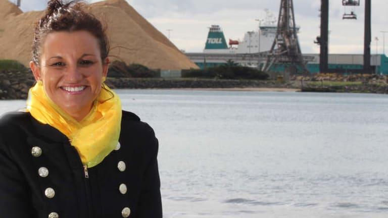 Successful Palmer United Party Senate candidate Jacqui Lambie in Burnie, Tasmania.